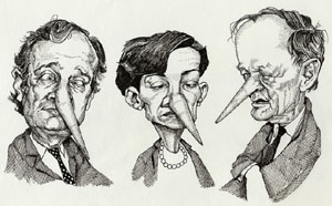 Paul Martin, Sheila Cobbs and Jean Chretien, three politicians caught lying to the people.
